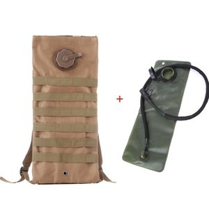 2.5L Military Tactical Water Bag Hiking Camping Molle Camouflage Bag Backpack Hydration Water Bag With Water Sac