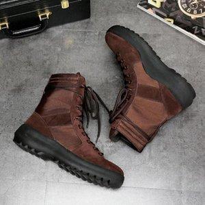 botas de boa qualidade marca KANYE Melhores de Deus militares tênis Botas Exército Hight homens e mulheres sapatos da moda Martin botas Z09