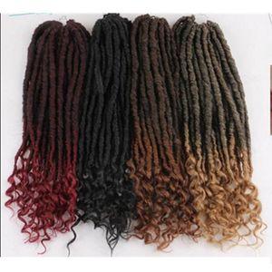 Trenzas sintéticas Goddess Faux Locs Trenzas de ganchillo Twist 20Inch 24Strands Extensiones de cabello sintéticas preenrolladas