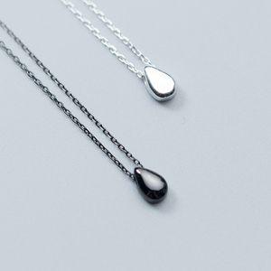 Argento 925 Pure Silver S925 Jewlery Carino Teardrop Waterdrop pendente della ragazza Mothers Day regalo di modo delle donne