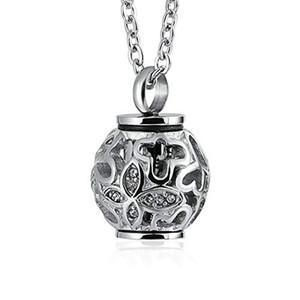 Cadeaux pour les femmes Memorial urne Collier En Acier inoxydable Cylindre Lanterne Pendentif crémation souvenir Bijoux Pour cendres