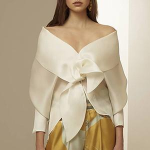 Designer femme vêtements chemises voir par les femmes de la piste de mode look chemise en soie blouse dames