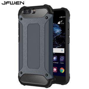 Estuche para Funda Huawei P10 P20 Lite P30 Pro Estuche duro de armadura Estuches de teléfono para Coque Huawei P10 Plus P20 Cubierta de la caja a prueba de golpes