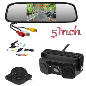 Wireless 5 Inch Car Monitor 800 * 480 Video Parking Radar Alarm Sensors RearView Night Vision Camera