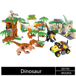 QL1701 Jurassic Park Arbeit Baustein Ziegel Dinosaurier pterosaur Indomirus T-Rex Triceratops Baby-Spielzeug Kinder Geschenk Bildungsmodell
