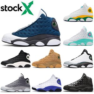 Top Jumpman 13 13s Men Women Basketball Shoes Flint Playground Soar Green Reverse Game Cap And Gown Trainers Sport Designer Sneakers 36-47