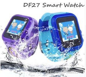 DF27 Kids GPS Smart Watch Swim Waterproof SOS Call Location Device Tracker Baby Safe Anti-Lost Smartwatch pk DF25 Q50