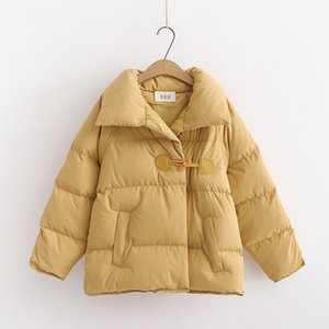 Winter New Style WOMENS Dress Outdoor Wear Athletic & Outdoor Apparel Koreanstyle Versatile Loose Thick Cottonpadded Clothes Large Lapel Sin