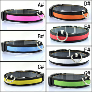 LED Nylon Pet Dog Collar Night Safety LED Light Flashing Glow the Dark Small Dog Pet Leash Dog Collar Flashing Safety Collar 100PCS