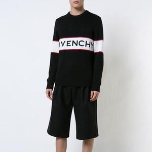 Camisola de malha 19ss Inverno Europa Paris Estrelas Moda Mens Camisolas Casual Mulheres Homens clássico shirt pulôver O-Neck Knitwear Camisolas FG55