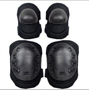 1 Conjunto Airsoft Tático Ajustável Joelho Cotovelo Protective Support Pads Protetor Engrenagem Esportes Caça Tiro Brace Guard 7 Cor
