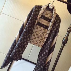 Bufanda de invierno para mujer 2019 Diseñador Dobladillo Bufandas largas Chales Bufandas de abrigo 180x70Cm Chales Collar Diadema En stock