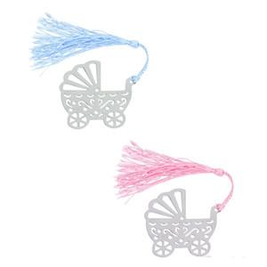 Luna Llena fiesta de cumpleaños del regalo del carro de bebé del cochecito de la señal del metal Niños favores de la decoración azul del regalo de cumpleaños color de rosa