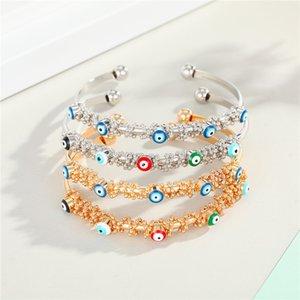 1PC Vintage Красочный сглаза Открыть браслет для женщин высокого Quanlity Bohemian Этнический Турция Голубой браслет глаз ювелирные изделия