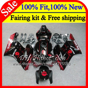 100٪ Fit Injection for HONDA CBR 1000RR BACARDI bats CBR1000 RR 04 05 Kit 51HT6 CBR1000RR 04 05 CBR 1000 RR 2004 2005 OEM Fairing Bodywork