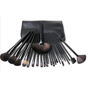Professional Makeup Brushes Set 24pcs Portable Full Cosmetic Make up Brushes Tool Foundation Eyeshadow Lip brush with Bag DHL Free Shipping