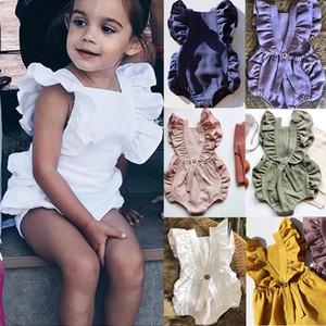 Filles Robes enfants Stylistes layette bébé bébé bébé nouveau-né Set Coton Jumpsuit enfant en bas âge infantile luxe Romper