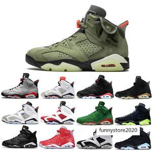 Cheaper New Travis Scotts X 6 Medium Olive 6s Men Basketball shoes Yellow Cactus Jack UNC Tinker DMP Oregon Mens Sports sneaker