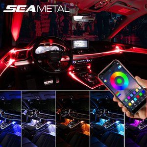 Car Interior modanature 12V cruscotto Decoration Strips universale decorativo flessibile Trim Auto Atmosfera Accessori Luce