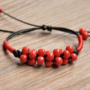 Jingdezhen Ceramic Original Jewelry Hand-Woven Jewelry Corn Festival Porcelain Beads Bracelet Online Shop Supply