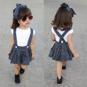 PUDCOCO الأحدث الوليد طفلة ملابس قصيرة الأكمام عارضة تي شيرت + تنورة ملابس فساتين الأمومة 1-5T العصابة تتسابق مجموعات
