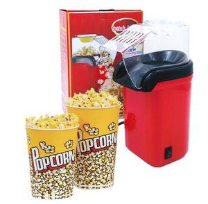 1200W Mini Hot santé des ménages Popcorn Air sans huile Maker Machine de maïs Popper Pour la maison Cuisine Eu Branchez