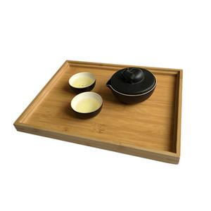 Piatto di bambù del tè posate rettangolare vassoio di frutta bagagli Pallet della famiglia Multi Function Cibo Decorazione Vassoi hotel Vassoi DH1291 T03