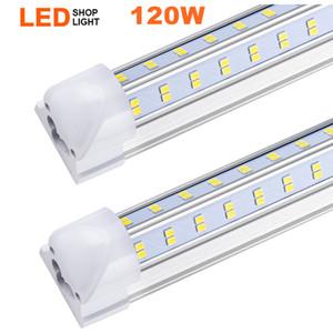 En forma de V 2 pies 3 pies 4 pies 5 pies 6 pies 8 pies refrigerador de la puerta del LED T8 Tubos Tubos LED integrado lados dobles llevó las luces 85-265V acción en los EEUU
