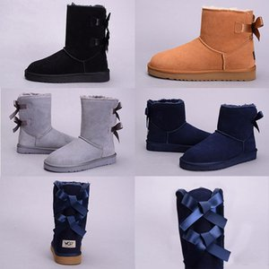 2019 New WGG Women s Australia Classic kneel Boots Ankle boots Black Grey chestnut navy blue Women girl boots drop shipping