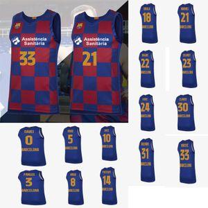 Nuovo Nikola Mirotic N ° 33 di pallacanestro pullover di pallacanestro di Euroleague PUSTOVYI DAVIES Pangos SMITS ORIOLA HIGGINS RIBAS HANGA CUSTOM