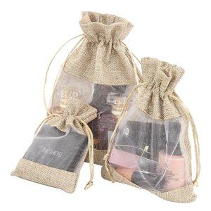 جانب الجانب نافذة الكتان الحقيبة مستحضرات التجميل مجوهرات هدية صغيرة الحقائب صديقة للبيئة الرباط شعاع حقيبة الفم حقيبة الغزل والكتان حقيبة nvmja
