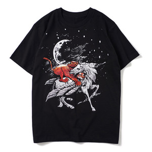 Mens T Shirt Black Printed Summer Short Sleeves Men Women stylist T Shirt Casual Cotton Tee