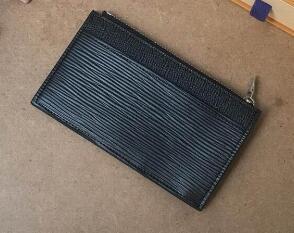 N64038 Monedero Tarjeta IC con cremallera con bolsillo monedero monedero Tarjeta de diseñador de bolsillo corrector blanco corrector marrón Mono 8 * 14.5 * 1 cm