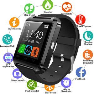 ساعة ذكية بلوتوث ووتش u8 ل فون ios الروبوت الهاتف الذكي ارتداء ساعة للجهاز يمكن ارتداؤها الرجال الأزياء