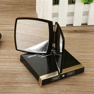 C Klassische Folding Doppelseitenspiegel Beweglicher HD Make-up-Spiegel und Vergrößerungsspiegel mit Flannelette BagGift Box Für VIP-Client