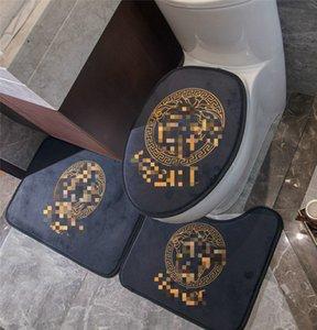 Harf Tanrıça Tasarımcı Bath Mats 3 adet Otel Banyo Kaymaz Halı Aile Banyo Dekorasyon Halı ayarlar