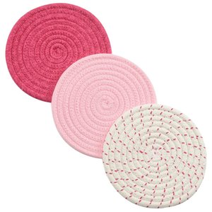 Pot Holder Woven Cotton Thread HOT Pot Holder Set (Set Of 3) Stylish Coasters, Heat Pads, Heat Pads, Spoon Pedals for Cooking an