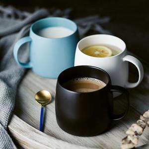 Keramik MUZITY Becher Porzellan Matte Kaffee oder Tee-Becher 450ml Frühstück Milch-Becher Trinkgefäß T200506