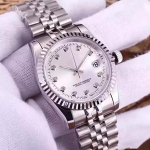 여성 시계 다이아몬드 오토매틱 무브먼트 시계 여성 MONTRE 하루가 될거야 스타일 시계 316L 스테인레스 스틸 사파이어 36mm는 손목 시계 다이얼
