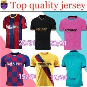 TOP FC BARCELONA camisa de futebol 2020 2021 Camisetas de futbol Ansu FATI 19/20 Messi Griezmann de Jong Maillots de camisa de futebol homens crianças kit