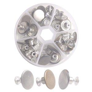 One Box of 27 Sets Jean Button Replacements Kit W  Rivets 14mm and 17mm (3 Colors)