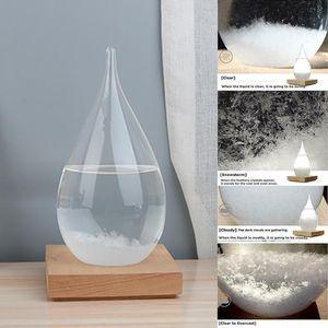 Criativa Previsão Crystal Pe Forma Tempestade Vidro Decor Natal Presente de Previsão de Tempo para Garrafa Gota tempestade Decor Art