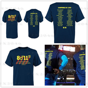 18 19 Maillots de foot espagnols champions T-shirt de football commémoratif du trophée Barcelone, maillots de foot bleu Fans Tops Tee print logo de la marque