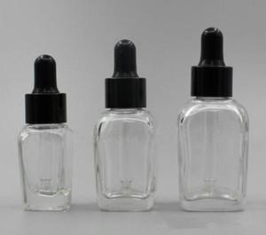 Ecig vape духи vape e жидкость флакон 10 мл прозрачная стеклянная бутылка-капельница с крышкой для пипетки черного белого серебра