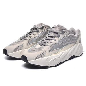 Mejor venta Kanye West Wave Runner 700 Geode Static Salt Malva Gris sólido Deportes Bowling Shoes Hombres Mujeres Deportes Zapatillas 36-44