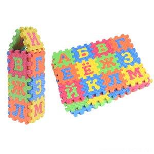 60 шт 3d головоломки Детские Развивающие игрушки Мини EVA Foam Пазлы Пазлы Игры Русские буквы алфавита Числа пола Мягкая Детские Mat