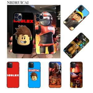 NBDRUICAI Popular Game Roblox Logo DIY Painted Bling Phone Case for iPhone 11 pro XS MAX 8 7 6 6S Plus X 5S SE XR case