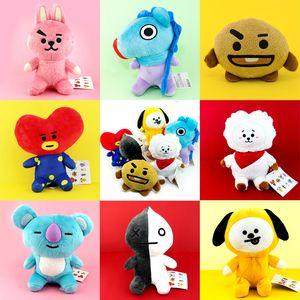 New Toy bonito dos desenhos animados Stuffed BTS Plush Stuffed Toy Boneca BT21 Bangtan Boys K-Pop presentes Chimmy Exército Moda