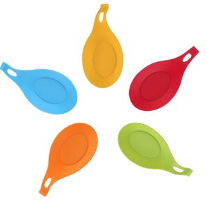 Silicone Spoon Rest Pad Food Grade Silica Gel Spoon Put Mat Device Kitchen Utensils kitchen dishes