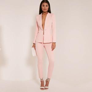 New Light Pink 2019 abiti da donna per donna adatti alle signore eleganti tailleur pantalone per matrimoni femminili tailleur pantalone
